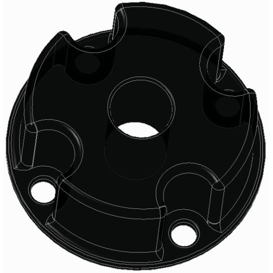 """4xM4 - перехідник для кріплення датчиків з різьбленням G1 / 4 """"на повітропровід"""