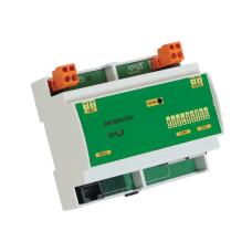 Шлюз в Modbus TCP (PoE) slave 3х m-bus устройств и 4х импульсных накопительных входов (работают и без питания). Питание 19-28 VDC или PoE.