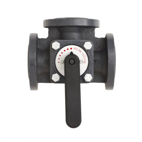 Регулюючий поворотний клапан Danfoss серії HFE3 kvs = 90м3 / год, DN = 65мм 065Z0433