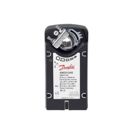 Электропривод для воздушной заслонки Danfoss AMD123, 3Нм, 24В, Аналоговый, с возвратной пружиной 082H1140